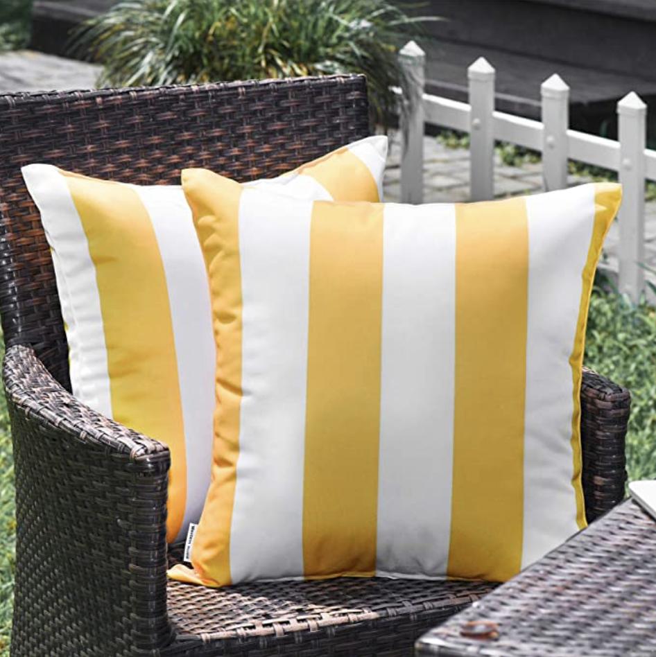yellow patio decor